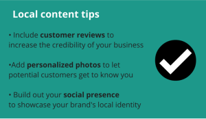 local content tips